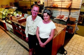 Grana Bread owners John and Fiona Smollen, seen here at their new Carbondale store, plan to stop selling their artisan bread except in their sandwiches. Aspen Times photo/Paul Conrad.