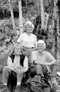 Joy Caudill, Dottie Fox and Connie Harvey. Fox and Harvey will be inducted into the Aspen Hall of Fame. Caudill has already been inducted. (Photo courtesy David Hiser )