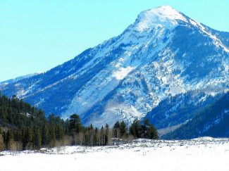 Larry and Dana Darien placed a conservation easement on 35 acres of open land under the shadow of White House Peak. (Courtesy Aspen Valley Land Trust)