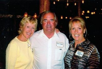 At the Toros reunion are, left to right, Missy Sears, Bill Knapp and Kathy Baker Hill.