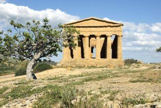 The Temple of Concordia in Agrigento's Valley of the Temples was preserved in better condition than the other temples there because it was used for years as a Christian church. Andy Stone photo.