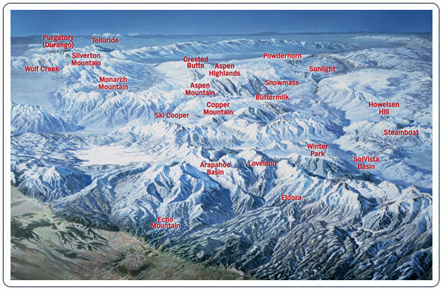 Colorado Ski Map Drops Vail  AspenTimes