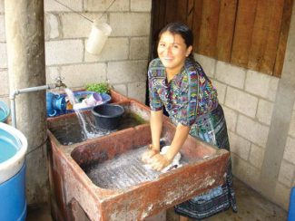 Courtesy Aspen Rotary ClubA Guatemalan woman does her wash in facilities provided by the Behrhorst Partners for Development nonprofit company, in a village near the area where the Aspen Rotary Club is now working to bring similar facilities to every home.