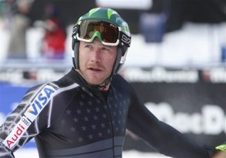 Bode Miller, of Easton, N.H., looks back up the mountain after a training run at the men's World Cup downhill ski race on Wednesday,  Dec. 2, 2009, in Beaver Creek, Colo. (AP Photo/ Alessandro Trovati)