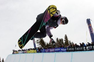 Courtesy Sierra SunAspen's Gretchen Bleiler sealed a spot on the U.S. Olympic snowboard team Saturday at the Grand Prix at Mammoth Mountain, Calif.