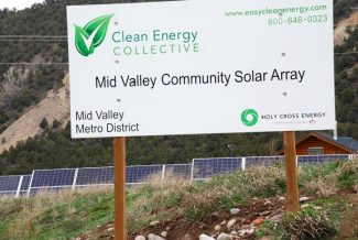 Janet Urquhart/The Aspen TimesInvesting in a community solar farm, like this one in El Jebel, isn't an option for Pitkin County homeowners who must mitigate for energy use under the Renewable Energy Mitigation Program.