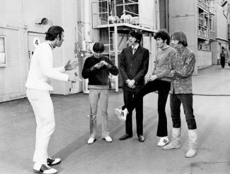 "Contributed photoDirector Bob Rafelson, left, with the Monkees on the set of the 1968 movie ""Head."" The movie will be shown Sunday, Feb. 12, at Belly Up Aspen in a fundraiser for the Aspen Youth Orchestra. Rafelson, an Aspen resident, will give a talk about the movie."