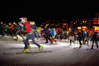 Ansley Alyse ChappellCompetitors push off from the base of Crested Butte Mountain Resort on Friday night at the start of the 15th annual Elk Mountains Grand Traverse.