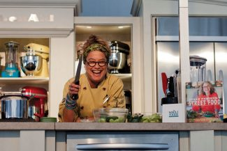 "Susan Feniger's personality was as vibrant as the Kitchen Aid set on Sunday morning at the Aspen Food and Wine Classic.  At her Irresistable Street Food seminar, she demonstrated several recipes from her new book, ""Street Food"", which is due to come out in 3 weeks."
