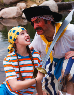"Laura Sugaski Danielle Erickson and her father, Tom, have roles in Theatre Aspen's ""How I Became a Pirate."""