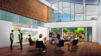 Courtesy of Design WorkshopAn artist's rendering shows the proposed community meeting room that would be part of expansion of the Pitkin County Library.