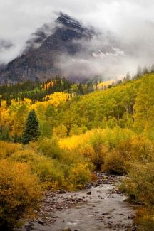 Jeremy Swanson/Aspen Skiing Co.A trace of snow is visible on the Maroon Bells near Aspen Wednesday morning.