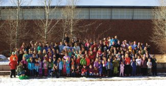 Brandy Keleher/Courtesy photoMore than two dozen current Aspen School District staffers attended the Aspen schools, and nearly 200 current students have parents who are district alumni. They gathered for a group photo before the Thanksgiving break.