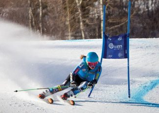 Jeremy Swanson/Aspen Skiing Co.Abby Ghent leans into a turn Nov. 17 during giant slalom training on Aspen Mountain.