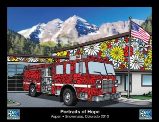 Contributed imageThe nonprofit Portraits of Hope will apply artwork painted by children and adults from Denver, Los Angeles and the Roaring Fork Valley, many of them sick or disabled, to the fleet vehicles of four primary-response agencies in Aspen and Snowmass Village. The panels will be temporarily applied to the equipment for five months beginning in June.