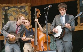 Stewart Oksenhorn/The Aspen TimesThe string quintet Punch Brothers, including Chris Thile, Paul Kowert and Noam Pikelny, left to right, plays Saturday night at Aspen's Wheeler Opera House.