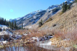 Janet Urquhart/The Aspen TimesThe Conundrum Creek Valley, south of Aspen, awash in sunshine Sunday.