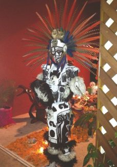 Andre Salvail/The Aspen TimesA Mayan warrior standing along Fifth Avenue in Playa del Carmen, Mexico, warns tourists last month that the end of days is looming.