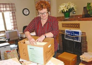 Kelley Cox/Post IndependentAttorney Sherry Caloia is busy packing and preparing for her upcoming move into the District Attorney's Office in Glenwood Springs.