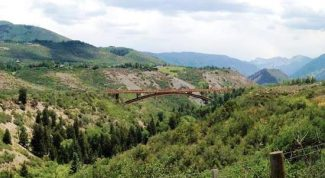 Courtesy Pitkin County Open Space and TrailsA bridge, similar to Aspen's Tiehack pedestrian bridge, would span the Roaring Fork River gorge as part of a plan to provide a paved alternative to the Rio Grande Trail near town.