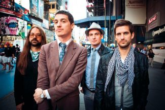 Colin GrayNew Orleans rock band Mutemath, with lead singer Paul Meany, second from left, plays a free show today at the Gondola Plaza.