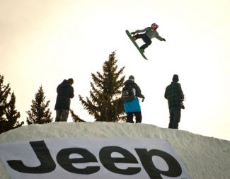 Jim Ryan / Special to the Aspen TimesA participant in the Winter X Games practices on the slopestyle course Wednesday afternoon at Buttermilk.