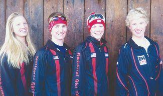 Chris Moore/Special to The Aspen TimesAVSC skiers at the National Cross Country Championships in Alaska are, from left, Hailey Swirbul, Hudson McNamee, Nick Sweeney and Keenan Swirbul.