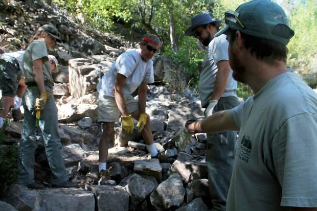 RFOV crew leaders and Forest Service employees were on hand to help direct the work.