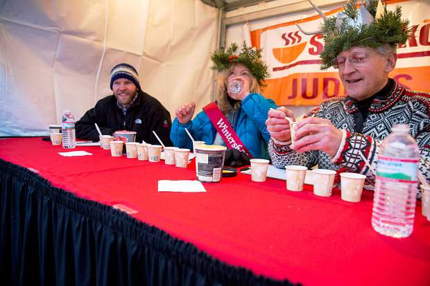Soupskol judges are burdened with the difficult task of tasting different entries.