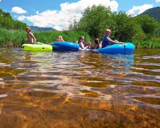 Some tubers enjoy a slow drift down the Roaring Fork River earlier this summer at the North Star Preserve. Despite heavy use along the river, Open Space and Trails Ranger John Armstrong said the public has done a good job respecting the area and staying out of the restricted areas.