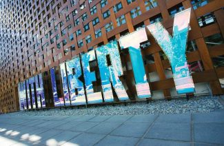 """The display outside the Aspen Art Museum, which reads """"With Liberty And Justice For All,"""" does not violate signage or lighting code, according to city officials."""