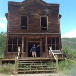Peter Starck visits the old hotel in the ghost town of Ashcroft in August 2015. His research suggests the hotel might have had a different name than what it is popularly remembered as.