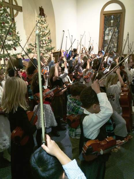 Local elementary school students learn to play cello, violin and viola in the Aspen Music Festival and School's Beginning Strings program. The Music Festival, in its recent focus on local community education, also offers vocal and guitar training.