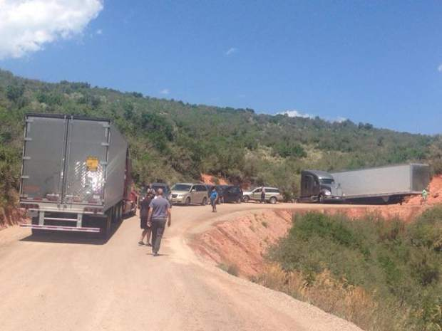 Two semis became stuck on Cottonwood Pass after they attempted to take the alternate route in response to the full closure of Glenwood Canyon in late July.