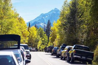 Maroon Creek Road has been closed since the federal government shutdown began Tuesday, Oct. 8. Pitkin County is expected to reopen part of the road so visitors can get a few miles closer to the locked Forest Service gate.