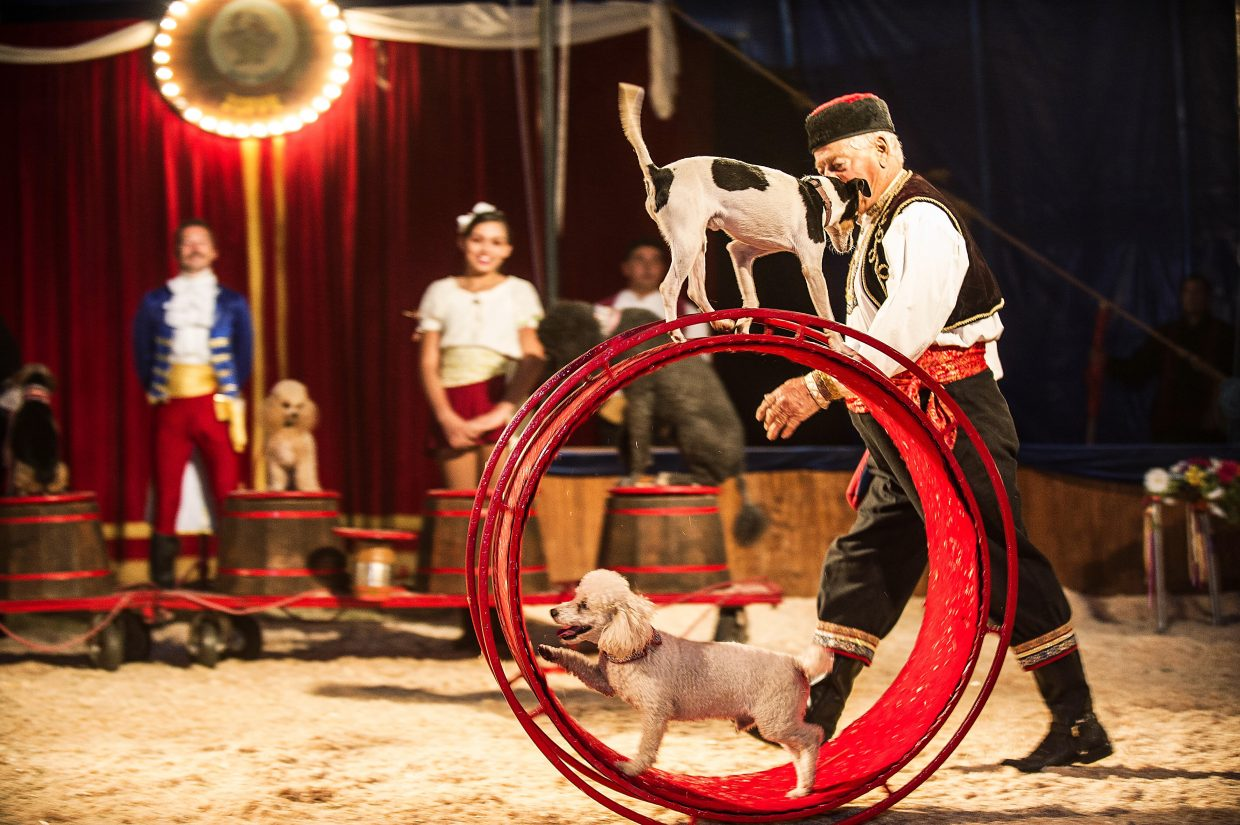 The Zoppe Italian Family Circus entertained a pack audience in Snowmass Village on Friday night. The artists debuted their act new this weekend, with shows set for 11 a.m. and 3 p.m. Sunday, Aug. 21.