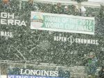 A banner at the women's World Cup ski races in Aspen in December tout Aspen's hosting of the World Cup Finals in March 2017.