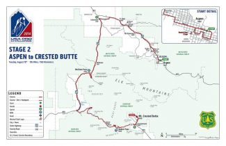 Stage 2 of the USA Pro Challenge features a route through Basalt and Carbondale as part of a race from Aspen to Mt. Crested Butte. The racers will climb both McClure Pass and Kebler Pass.