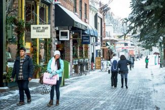 April was not cruel to Aspen retailers