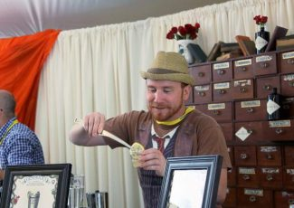 """The Hendrick's gin folks were mixing up some """"delighfully peculiar"""" cocktails during Friday's Grand Tasting. The Food & Wine Classic continues with through the weekend with tastings, seminars and parties across downtown Aspen."""