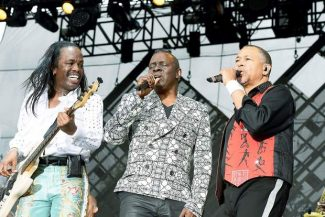 Earth Wind & Fire performed Saturday at the Jazz Aspen Snowmass Labor Day Experience with original members, from left, bassist Verdine White, lead singer Philip Bailey and Ralph Johnson taking center stage. The three-day music festival ends today with performances from The Revivalist, Nickel Creek and Carrie Underwood.