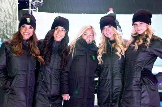Models from Monster Energy Drink were on display this week at the Winter X Games in Aspen. Monster is one of the event's sponsors.