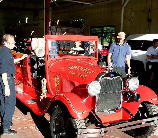 Blast From The Past With Old Fire Engine For Basalt Fire