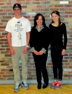 Aspen High School sophomore Tristan Niskanen (left) took third place in a civics-writing contest sponsored by the Pitkin County Republican Party, while the first-place winner was sophomore Elizabeth de Wetter. Second place went to Kelli Callahan, who is not pictured. In the middle is Pitkin County Republican Carol Jenkins.