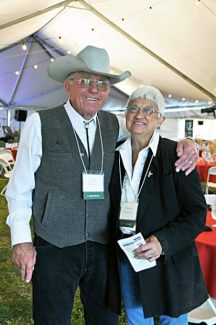 John and Theresa Nieslanik were the hosts for the Save the Land Dance held Aug. 23.
