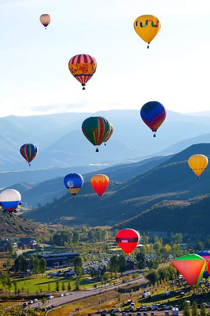 The annual Snowmass Balloon Festival runs Friday through Sunday in Snowmass Village, with events in Snowmass Town Park and on Fanny Hill.