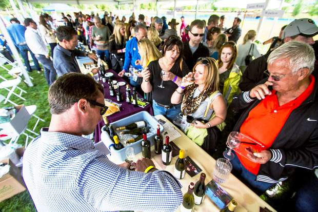 The 13th annual Snowmass Wine Festival, a benefit for the Rotary Club of Snowmass Village, takes over Town Park today from 2-5 p.m.