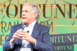 CBS president and CEO Les Moonves Tuesday morning at the Fortune Brainstorm Tech conference at Aspen Meadows. Moonves discussed his company's recent Supreme Court victory over Aereo.