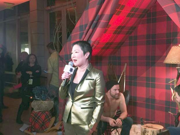Margaret Cho hosts Saturday night's Logo TV New Now Next Honors party.
