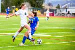 Aspen High School senior Logan McNamee, shown here in a game last season, is back to lead the girls soccer team this season. McNamee scored two goals in Aspen's 6-1 win over Roaring Fork this week.